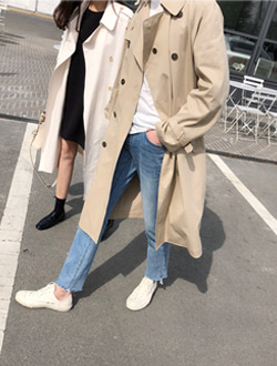(M) Leon trench coat ; 2 color